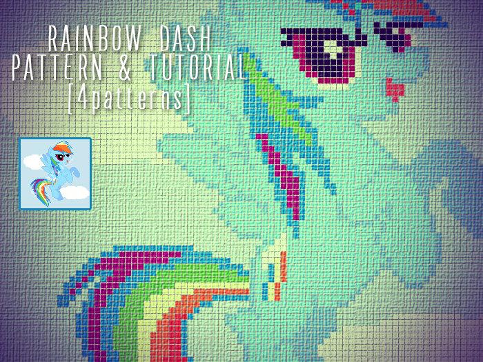 Rainbow Dash Pony Blanket Corner To Corner Crochet Pattern And