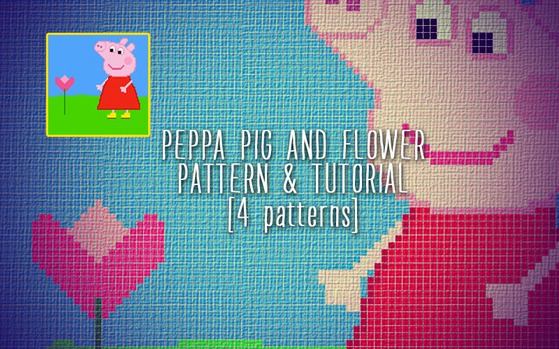 Peppa Pig And Flower Blanket Corner To Corner Crochet Pattern And