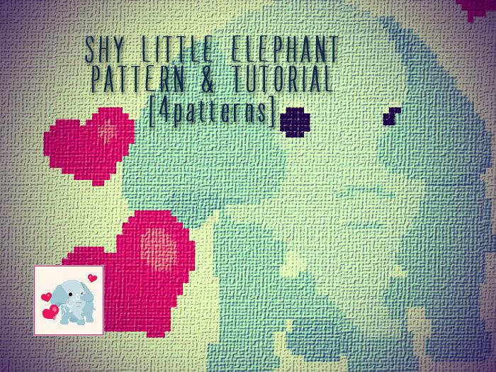 Shy little elephant blanket corner to corner crochet pattern