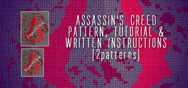 Assassins Creed blanket corner to corner crochet pattern and ...