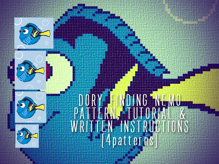 Dory Finding Nemo Corner To Corner Crochet Pattern For Blanket And
