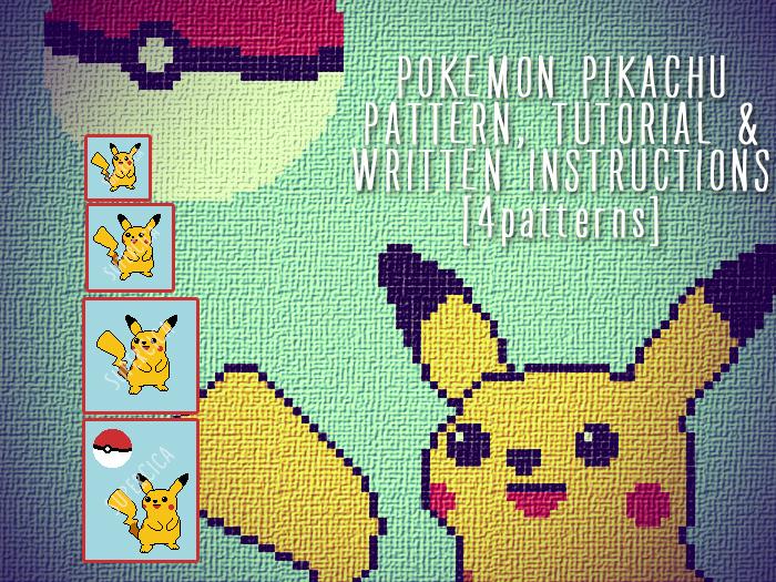 Pokemon Pikachu Corner To Corner Crochet Pattern For Blanket And