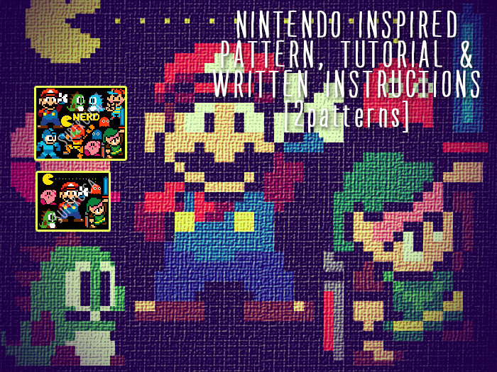 Nintendo characters corner to corner crochet pattern for blanket and ...