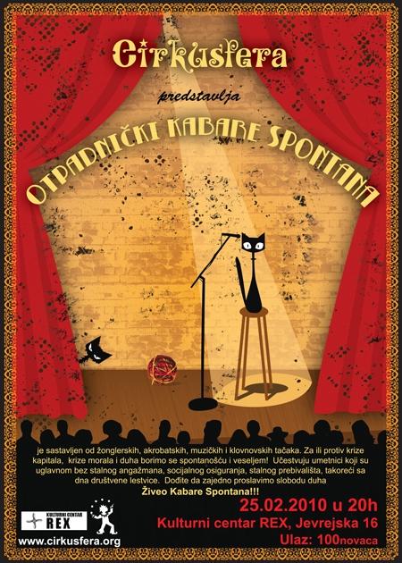 [:rs]Poster za kabare cirkusa Cirkusfera – SPONTANA[:en]Poster for circus cabaret Cirkusfera – SPONTANA[:]