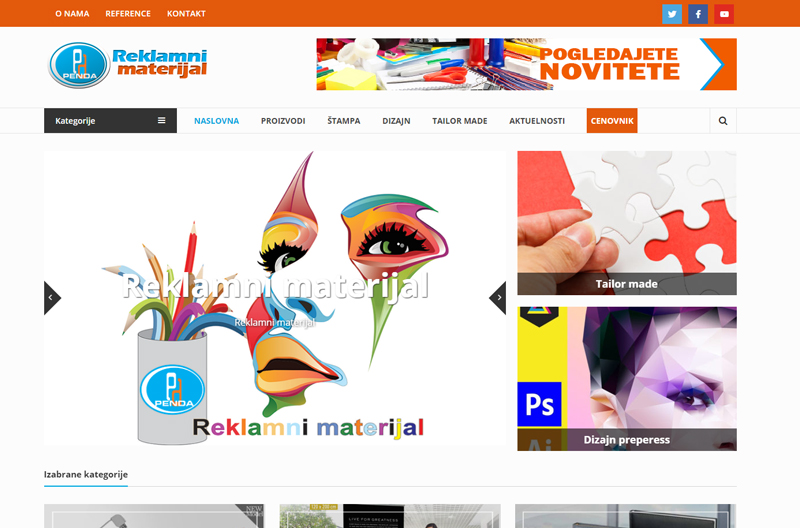 [:rs]Web sajt za reklamni materijal[:en]Web site for brending company[:]